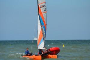 Catamaran Topaz 14 du Luc Yacht Club - Ecole de voile de Luc sur mer