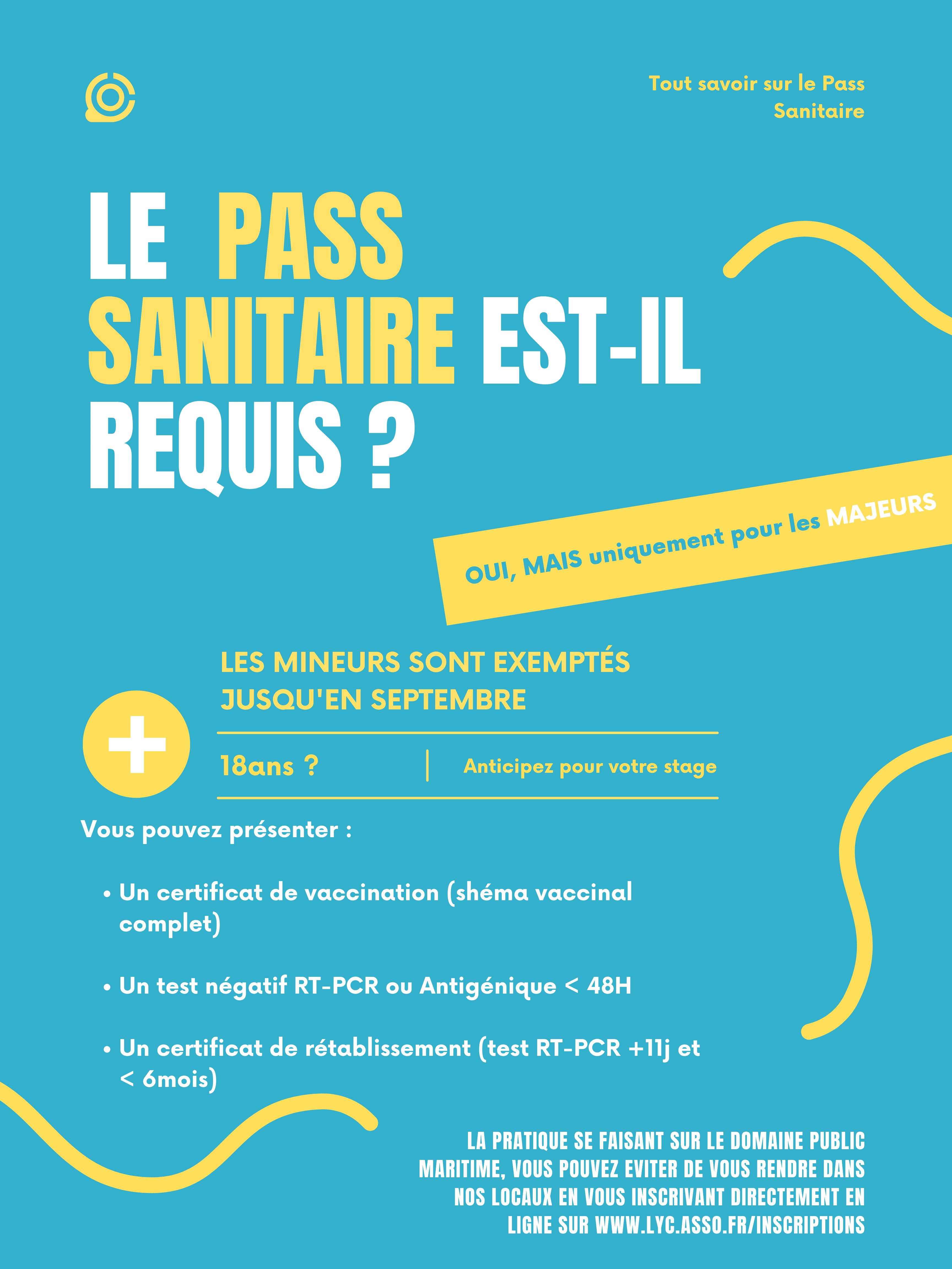 Pass sanitaire au LYC